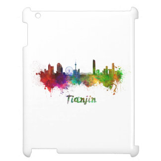 Tianjin skyline in watercolor cover for the iPad 2 3 4