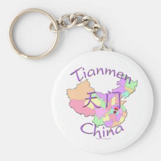 Tianmen China Llavero Redondo Tipo Pin