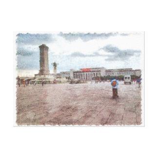 Tianmen square in Beijing Canvas Print
