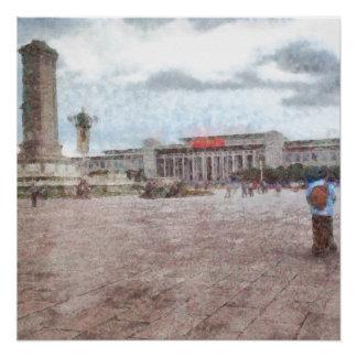 Tianmen square in Beijing Poster