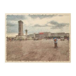 Tianmen square in Beijing Wood Print