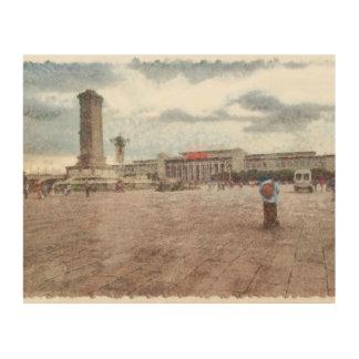 Tianmen square in Beijing Wood Wall Art