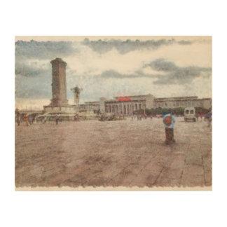 Tianmen square in Beijing Wood Wall Decor