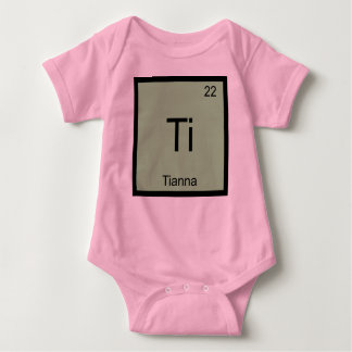 Tianna Name Chemistry Element Periodic Table T Shirt