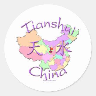 Tianshui China Round Sticker