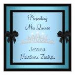 Tiara 1 formal de la joya del negro azul de invitacion personalizada