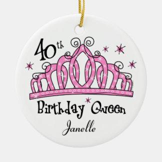 Tiara 40th Birthday Queen LT Ornament