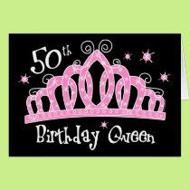 Tiara 50th Birthday Queen DK Card