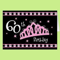 Tiara 60th Birthday Card