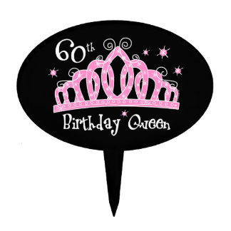 Tiara 60th Birthday Queen DK Cake Picks