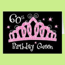 Tiara 60th Birthday Queen DK Card