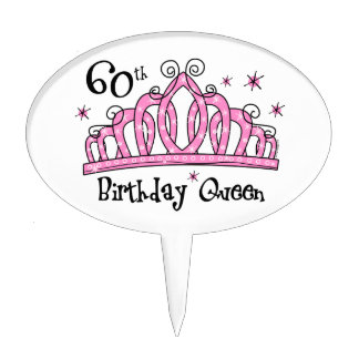 Tiara 60th Birthday Queen LT Cake Topper