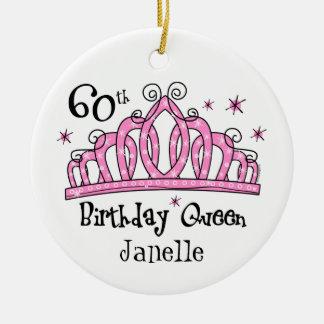 Tiara 60th Birthday Queen LT Ceramic Ornament