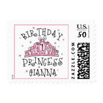 Tiara Birthday Princess Gianna Stamp