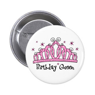 Tiara Birthday Queen Pinback Button