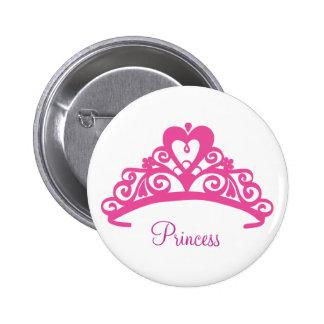 Tiara Bottom Pinback Button