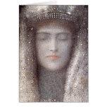 Tiara de plata del Symbolist francés Odilon Redon Felicitaciones