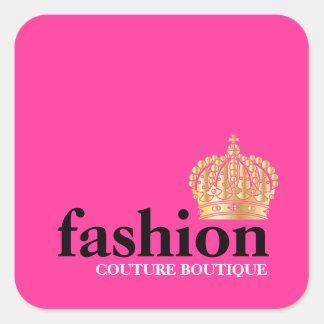 Tiara intrépida del boutique de la moda 311 calcomanías cuadradass
