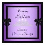 Tiara negra púrpura 1 formal de la joya de anuncio personalizado