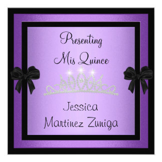 Tiara negra púrpura 1 formal de la joya de Quincea Anuncio Personalizado