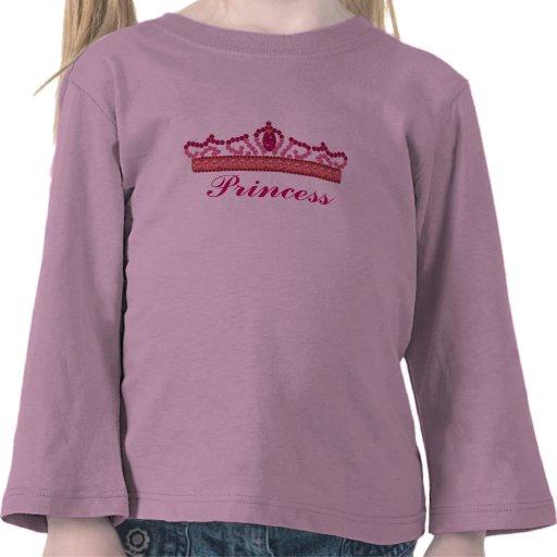 Tiara para una princesa camisetas