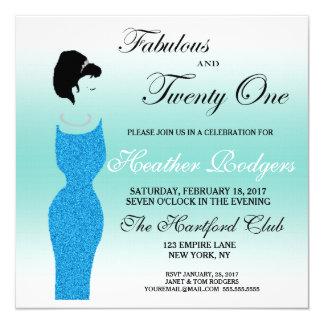 Tiara Party Fabulous at 21st Birthday Invitation