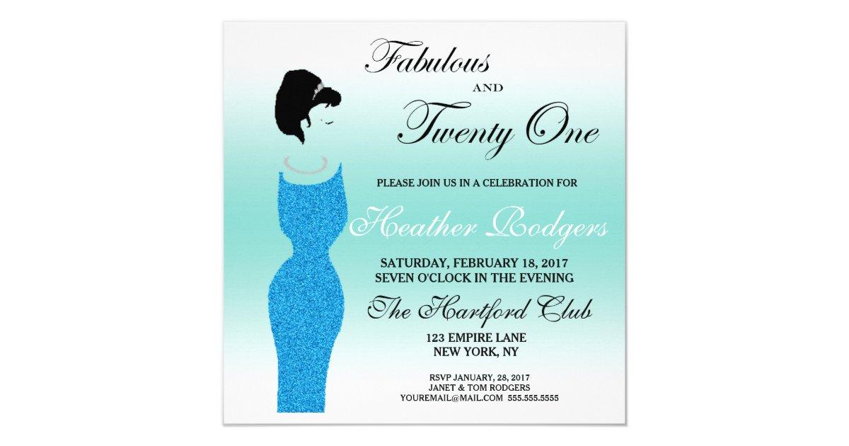 Tiara Party Fabulous at 21st Birthday Invitation   Zazzle.com