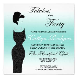 Tiara Party Fabulous at 40th Birthday Invitation