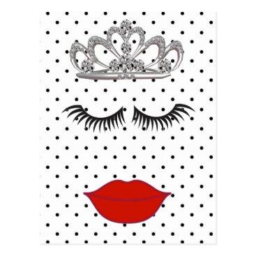 McTiffany Tiffany Aqua Tiara Party Where's My Lipstick Vacation Postcard