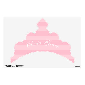 Tiara Personalized Removable Fabric Wall Decal