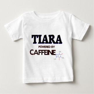 Tiara powered by caffeine t shirts