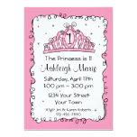 Tiara Princess 1st Birthday Custom Invitation