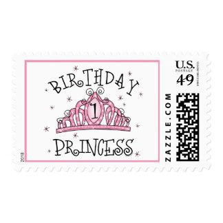 Tiara Princess 1st Birthday Stamp