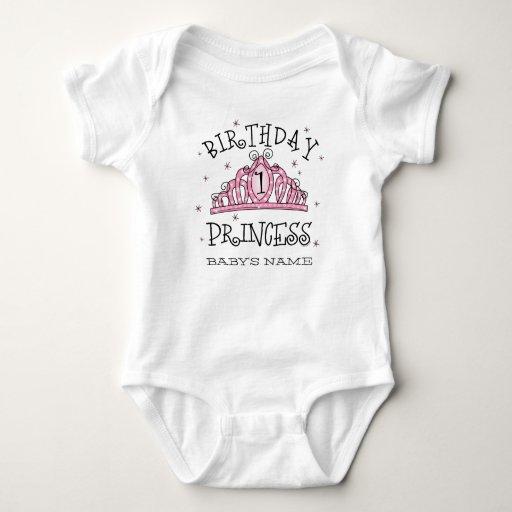 Tiara Princess 1st Birthday T-Shir... - Customized Baby Bodysuit