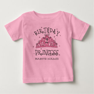 Tiara Princess 2nd Birthday Custom Shirt