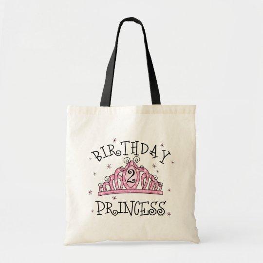 Tiara Princess 2nd Birthday Tote Bag
