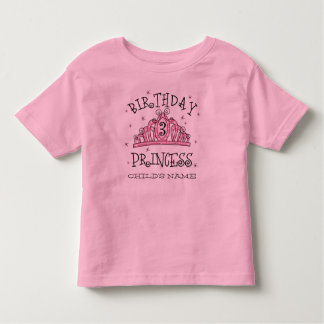 Tiara Princess 3rd Birthday Custom Shirt