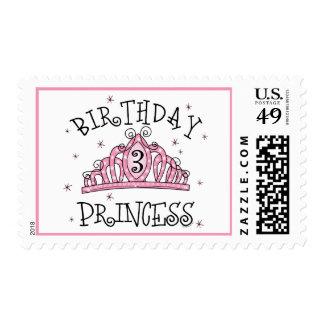 Tiara Princess 3rd Birthday Stamp