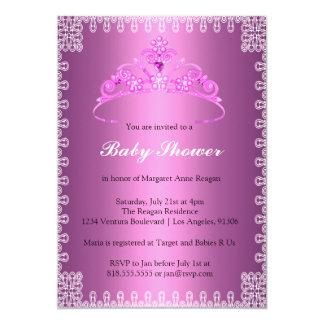 "Tiara Princess Baby Shower Invitation 5"" X 7"" Invitation Card"