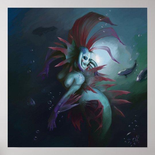 Tiara queen of the merfolk poster