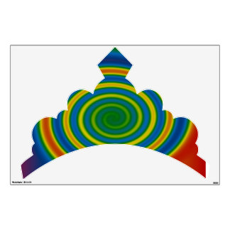 Tiara Rainbow Swirl >Girls Wall Decal