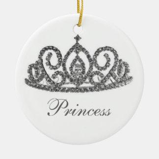 Tiara real del boda/de la novia adorno navideño redondo de cerámica