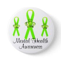 Tiara Ribbon Mental Health Awareness Buttons