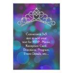 Tiara rosada púrpura RSVP del trullo de uso múltip Invitación