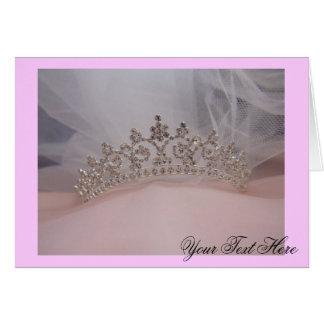 tiara, su del texto tarjeta de felicitación aquí