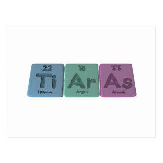 Tiaras-Ti-Ar-As-Titanium-Argon-Arsenic.png Postcard