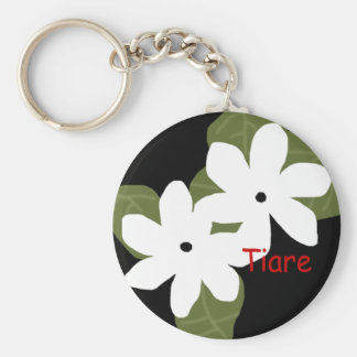 Tiare Tahitian flowers key chain