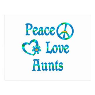 Tías del amor de la paz postales