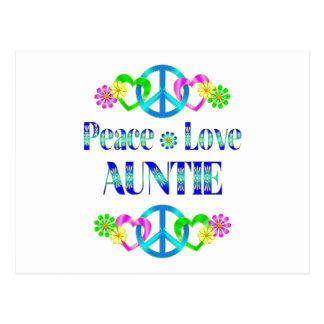 Tías del amor de la paz tarjetas postales