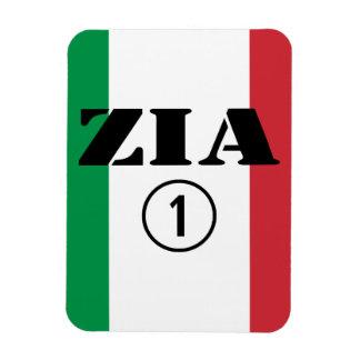 Tías italianas: Uno de Zia Numero Imán Rectangular
